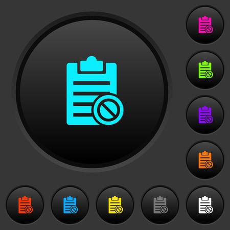 Observe los botones oscuros deshabilitados con íconos de colores vivos sobre fondo gris oscuro