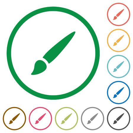 Brush in round outlines Иллюстрация
