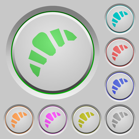 Bakery color icons on sunk push buttons