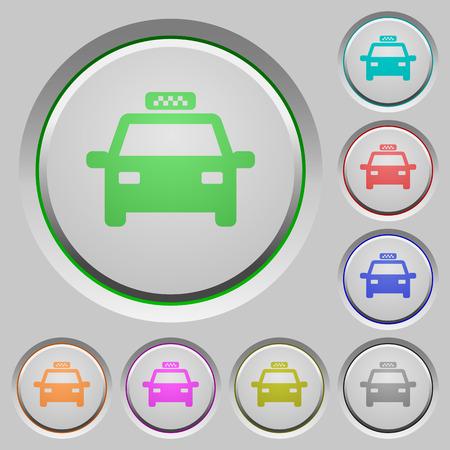 Taxi color icons on sunk push buttons Reklamní fotografie - 101016770