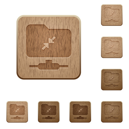 FTP compression on rounded square carved wooden button styles