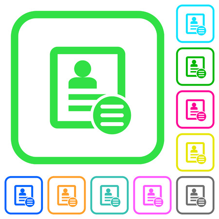 Contact options vivid colored flat icons in curved borders on white background Ilustracja