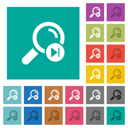 Find next search result flat framed icons multi colored flat icons on plain square backgrounds. Included white and darker icon variations for hover or active effects.