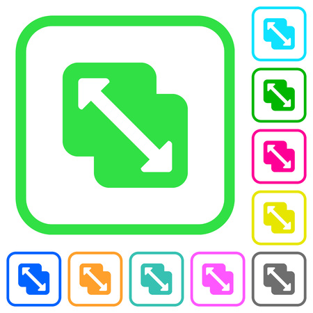 Merge shapes vivid colored flat icons in curved borders on white background