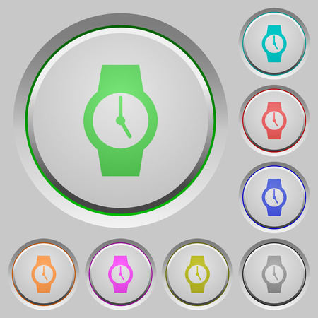 Watch color icons on sunk push buttons Illustration