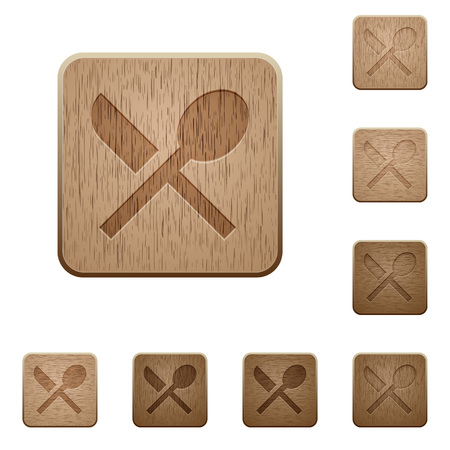 Dining on rounded square carved wooden button styles