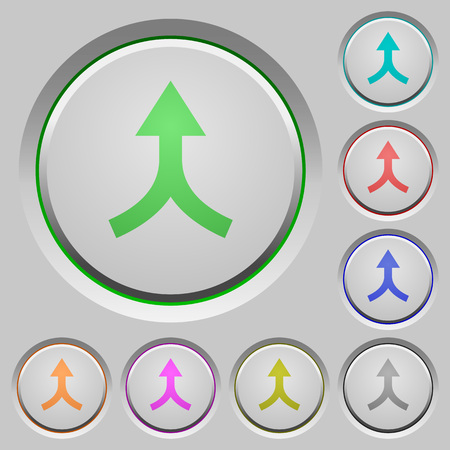 Merge arrows up color icons on sunk push buttons