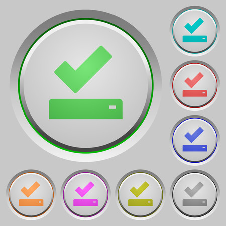 Successfully saved color icons on sunk push buttons