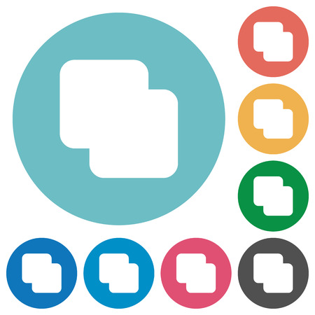 Add shapes flat white icons on round color backgrounds Illusztráció