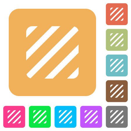 Texture flat icons on rounded square vivid color backgrounds. Illustration