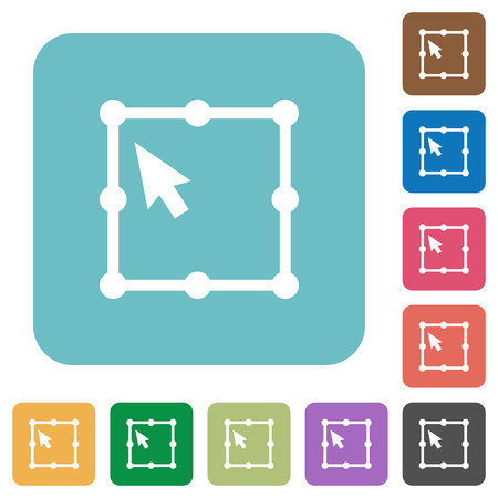 Free transform object white flat icons on color rounded square backgrounds