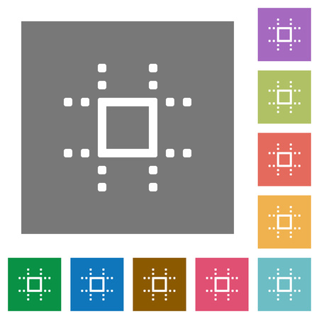 Snap to grid flat icons on simple color square backgrounds Illusztráció