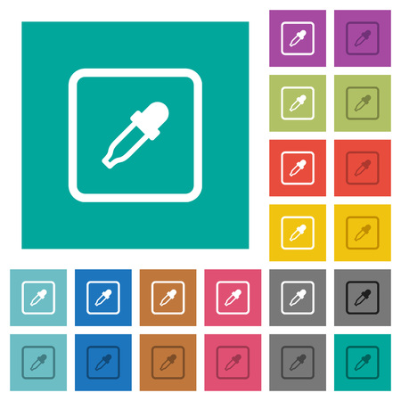Get object color multi colored flat icons on plain square backgrounds. Included white and darker icon variations for hover or active effects.