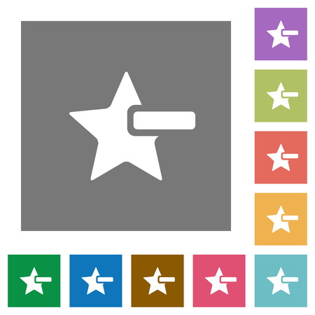 Remove star flat icons on simple color square backgrounds