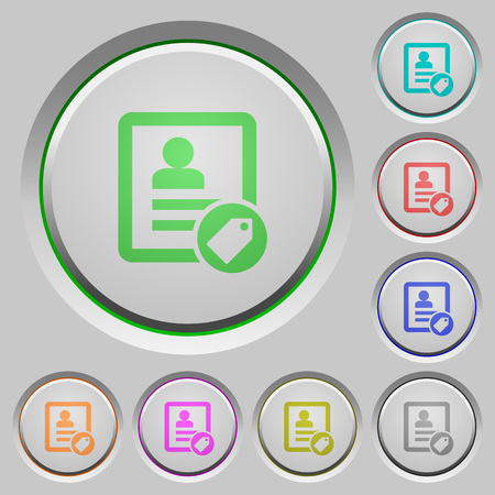Contact tag color icons on sunk push buttons Illustration