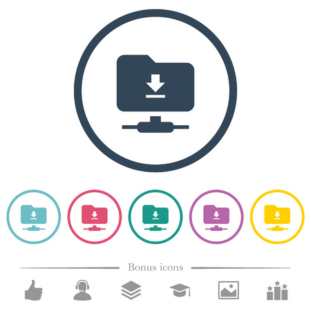 Download from ftp flat color icons in round outlines. 6 bonus icons included.