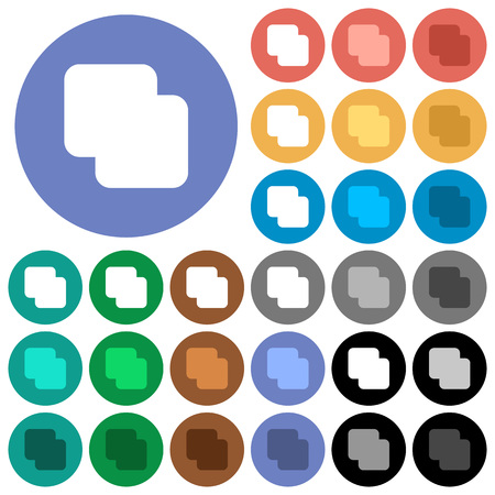 Add shapes multi colored flat icons on round backgrounds. Included white, light and dark icon variations for hover and active status effects, and bonus shades. Illusztráció