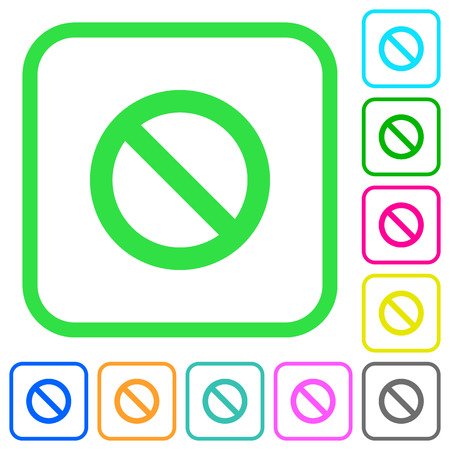Blocked vivid colored flat icons in curved borders on white background Ilustrace
