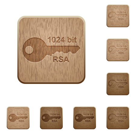 1024 bit rsa encryption on rounded square carved wooden button styles