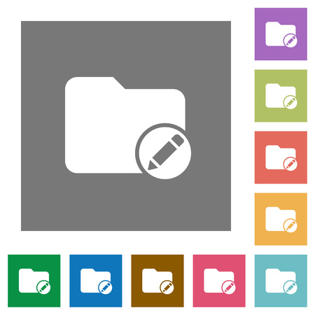 Renommer les icônes plates du répertoire sur des arrière-plans carrés de couleur simple