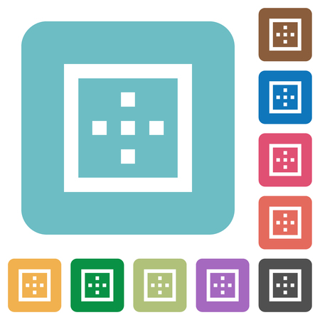 Outer borders white flat icons on color rounded square backgrounds Illustration