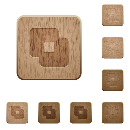Exclude shapes on rounded square carved wooden button styles