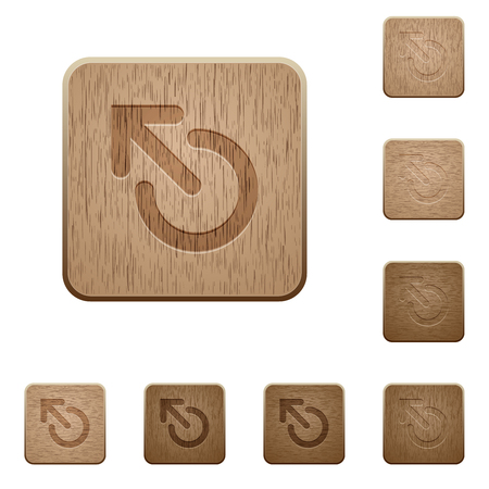 Media eject on rounded square carved wooden button styles