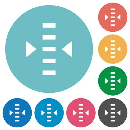Adjust level flat white icons on round color backgrounds Çizim