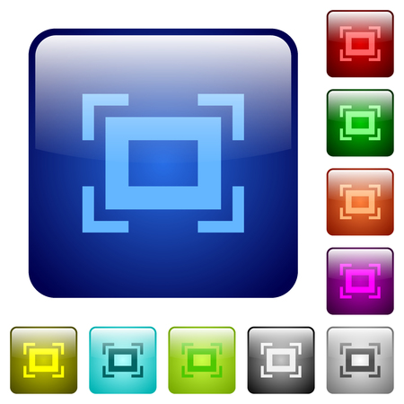 Full screen icons in rounded square color glossy button set