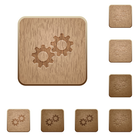Collaboration on rounded square carved wooden button styles