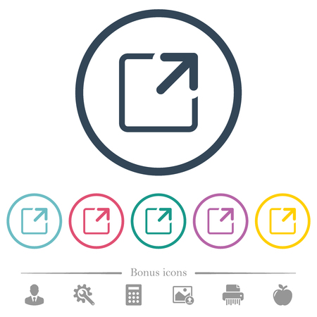 Maximize window flat color icons in round outlines. 6 bonus icons included. Ilustrace