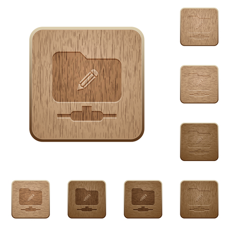 FTP edit on rounded square carved wooden button styles