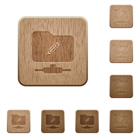 Modification FTP sur les styles de boutons en bois sculptés carrés arrondis