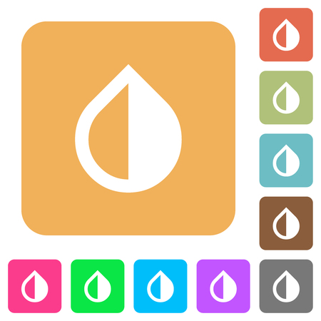 Invert colors flat icons on rounded square vivid color backgrounds.