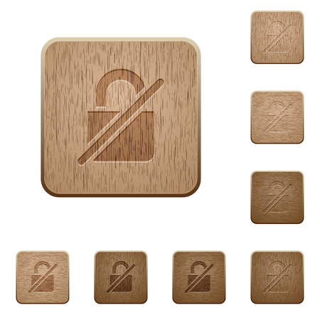 Unprotected on rounded square carved wooden button styles