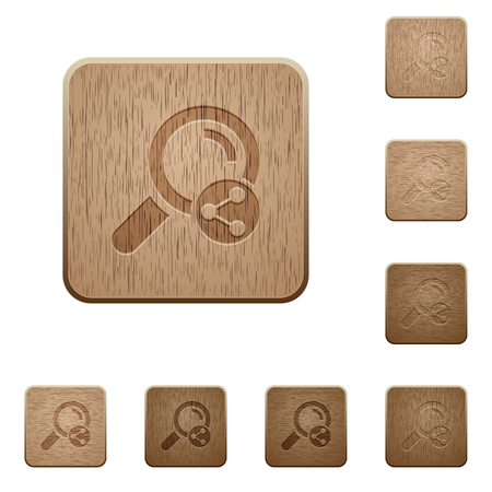 Share search on rounded square carved wooden button styles