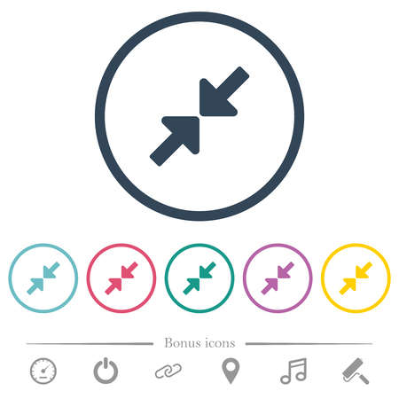 Resize small flat color icons in round outlines. 6 bonus icons included. Çizim