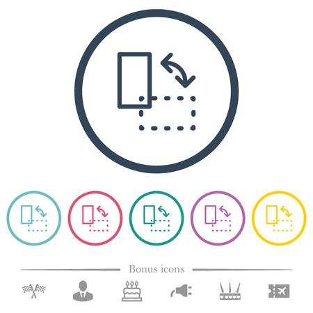 Gire los iconos de colores planos del elemento en contornos redondos. Se incluyen 6 iconos de bonificación.