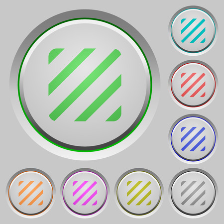 Texture color icons on sunk push buttons