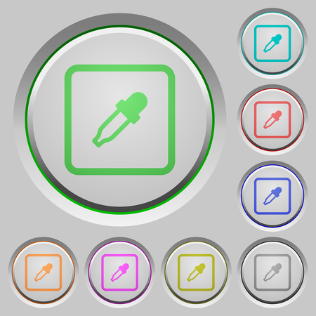 Get object color color icons on sunk push buttons
