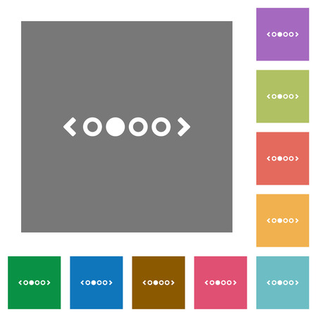 flat icons on simple color square backgrounds Illustration