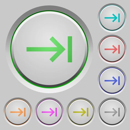 Keyboard tab color icons on sunk push buttons