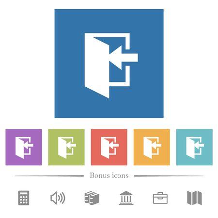 Entrez des icônes blanches plates dans des arrière-plans carrés. 6 icônes bonus incluses.