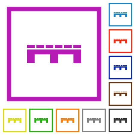Single pallet flat color icons in square frames on white background Фото со стока