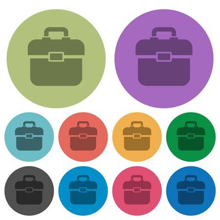 Toolbox darker flat icons on color round background