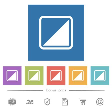 Invert object flat white icons in square backgrounds. 6 bonus icons included.