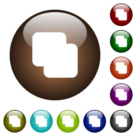 Add shapes white icons on round glass buttons in multiple colors