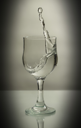 splashes of a glass on a white background
