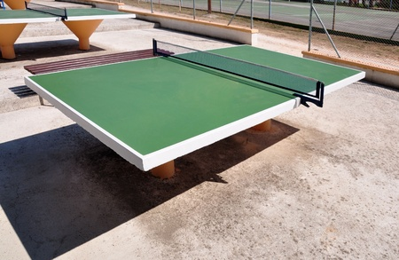 The green table tennis tables  Stock Photo - 13278026