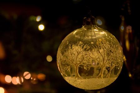 A winter world inside the Christmas ball